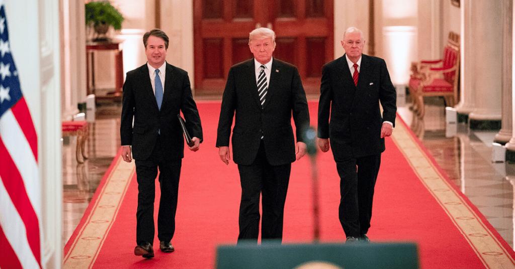 Trump Kavenaugh Kennedy via whitehouse flickr