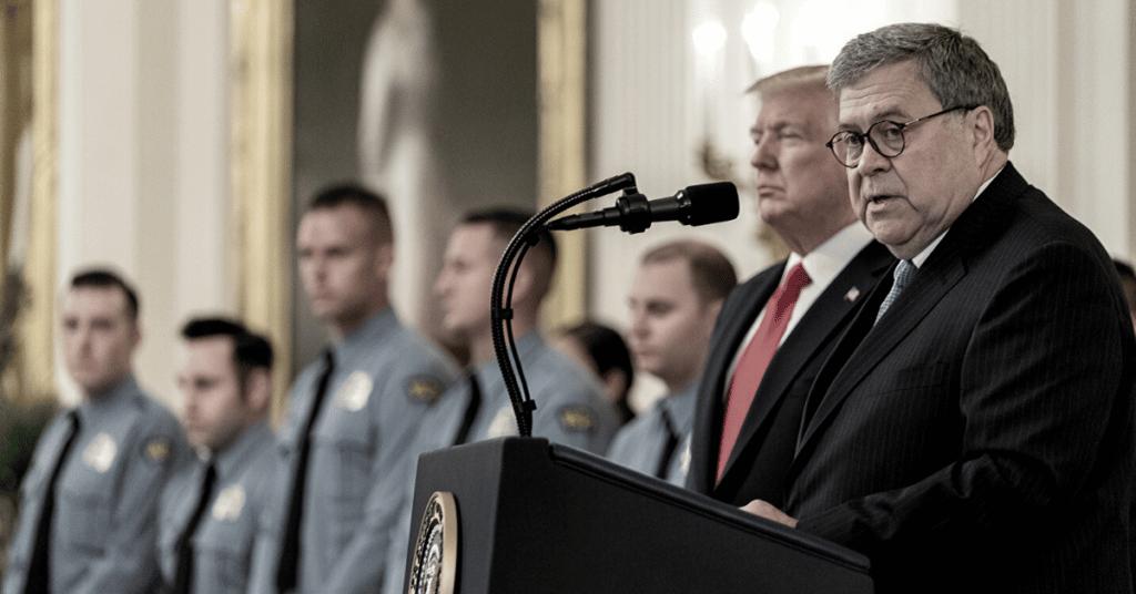 Barr podium via White House Flickr
